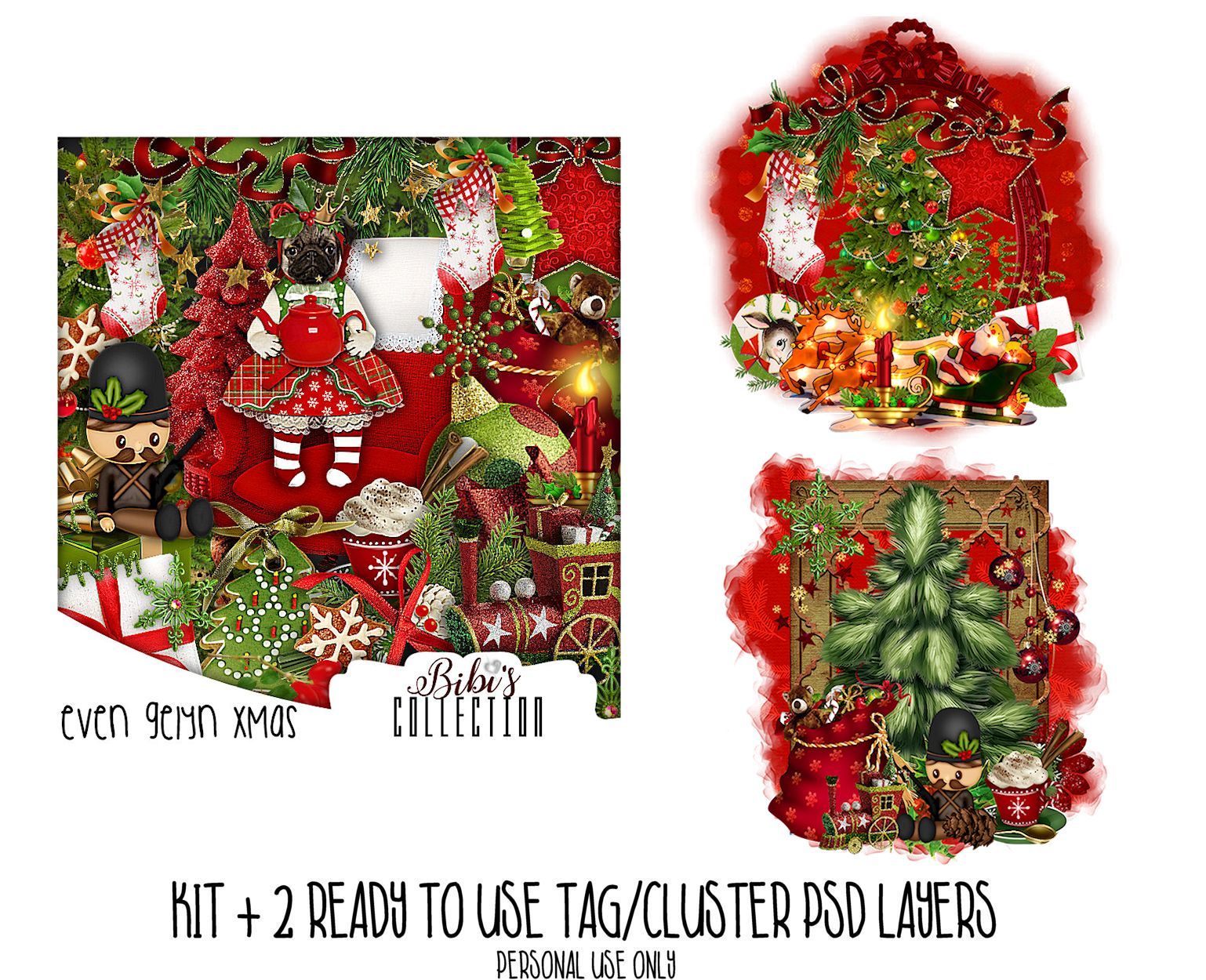 EVE GELYN XMAS +READY CLUSTER TAGS PSD